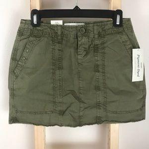 Old Navy Olive Military Inspired Skirt Raw Hem 0